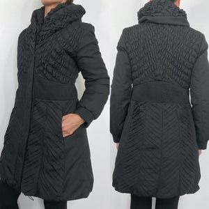 Elie Tahari Black Maddie Down Feather Puffer Coat